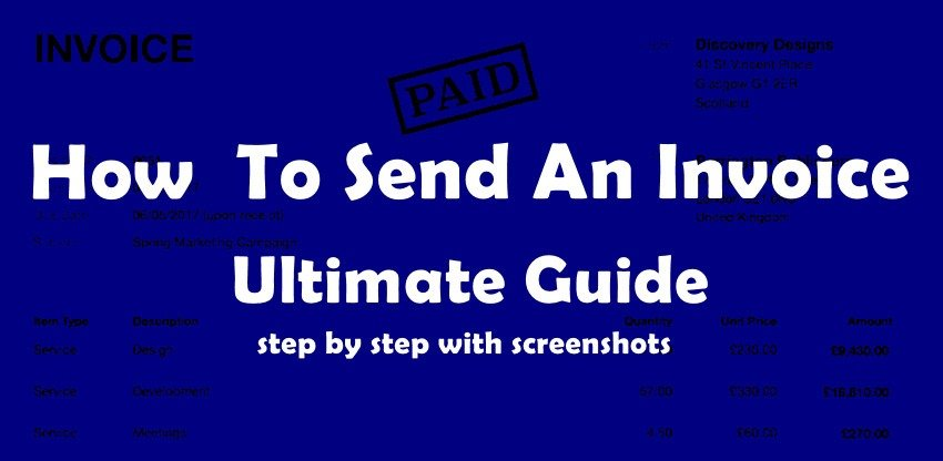 how to send an invoice