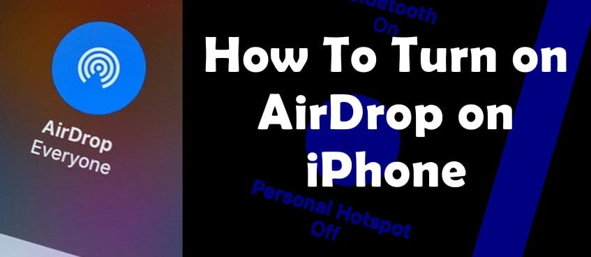 enable airdrop on iPhone