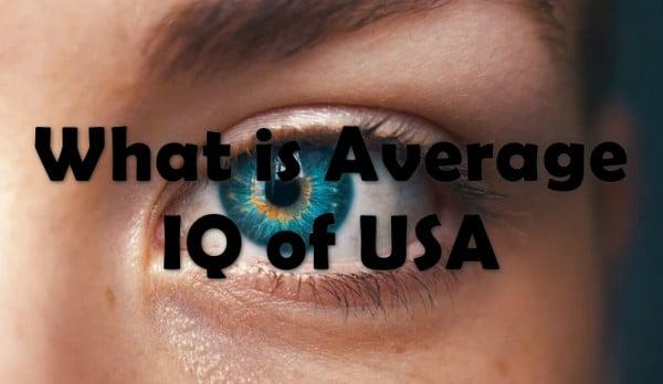 Average IQ score of US