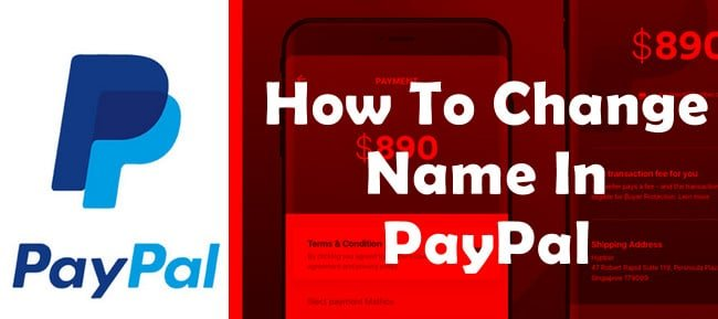 change paypal account name