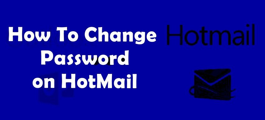 how to change a password on hotmail