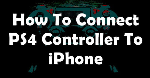 Pair PS4 Controller to iPhone