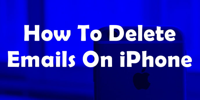delete emails on iPhone