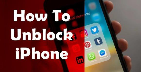 unblock iPhone