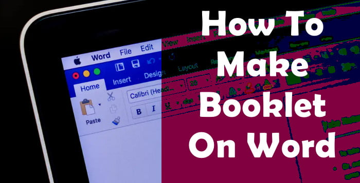 create booklet on word