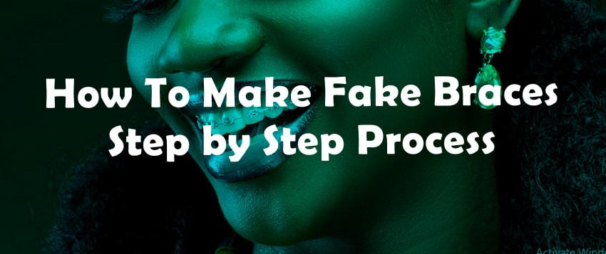 how to make a fake braces