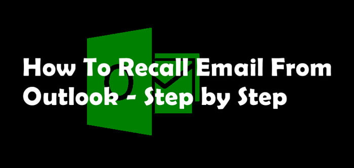 how to recall email on outlook