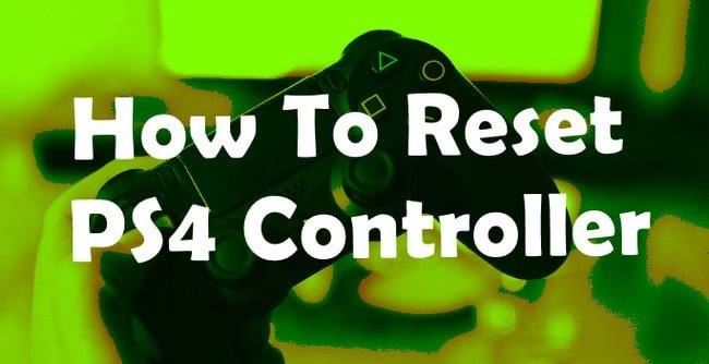 Factory Reset PS4 Controller