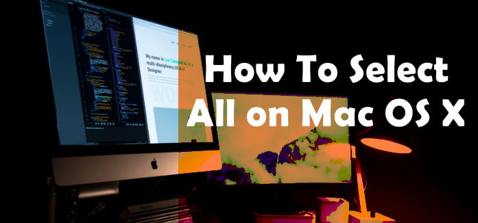 how to select all on Macbook