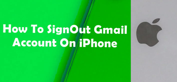 Signout Gmail on iPhone
