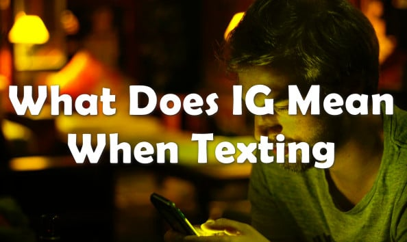 what does IQ mean when texting message