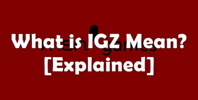 what is IGZ mean