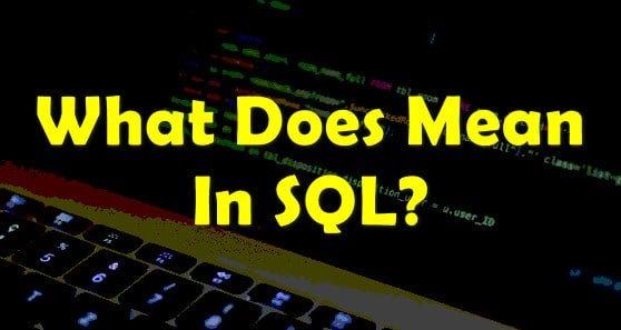 Mean in SQL