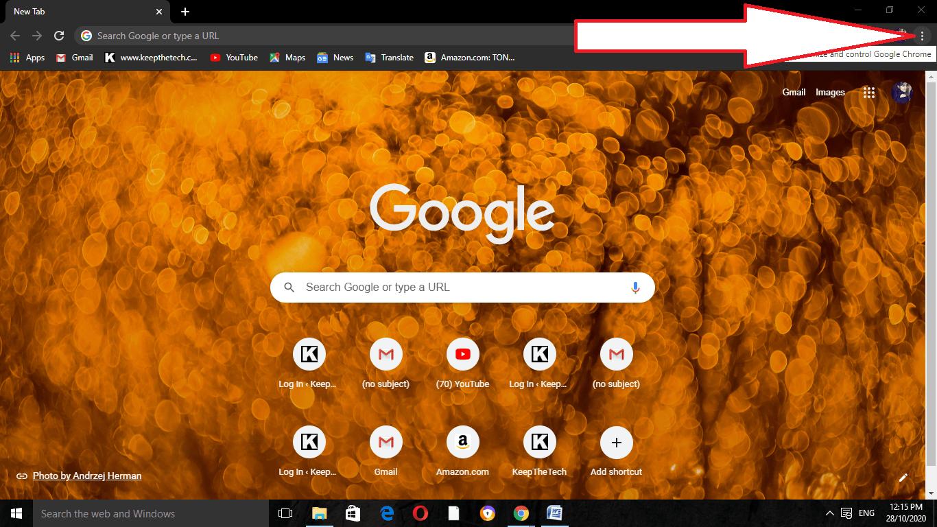 Chrome Settings