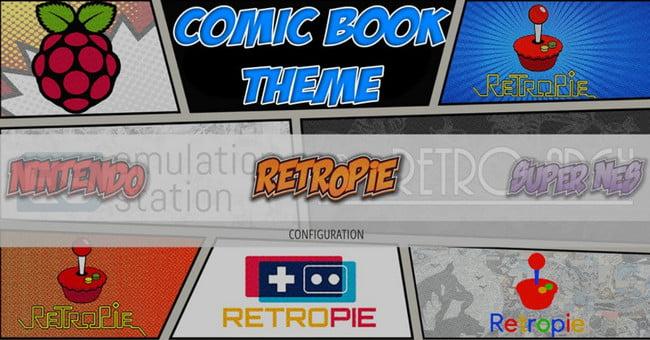 comic book theme emulationstation