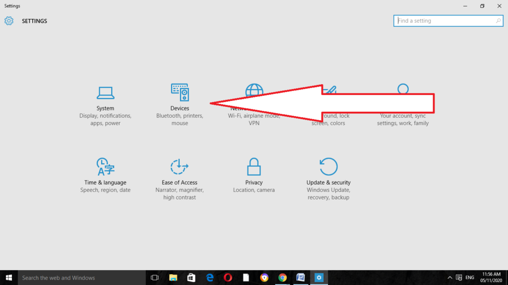 Windows Device Settings