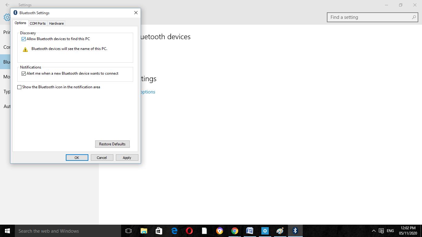 Bluetooth Pair on Windows