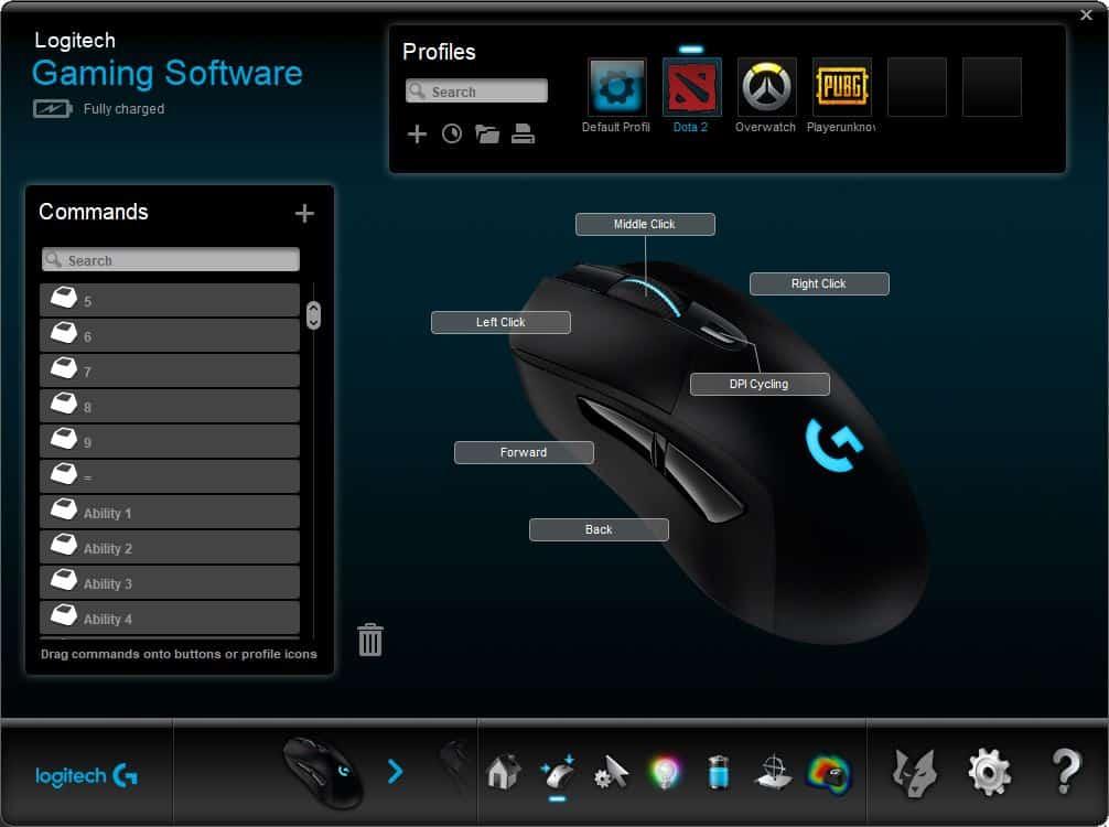 Logitech gaming profile