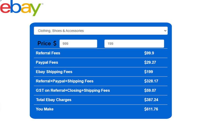 ebay profit