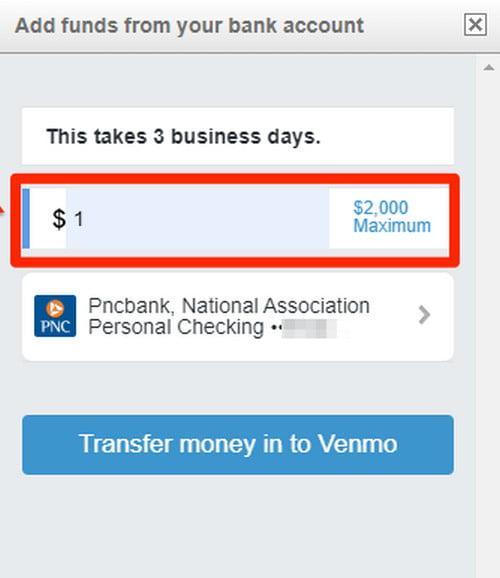 add money in venmo