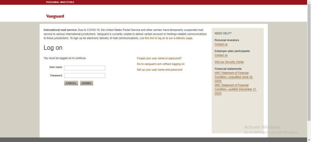 www.vanguard.com login