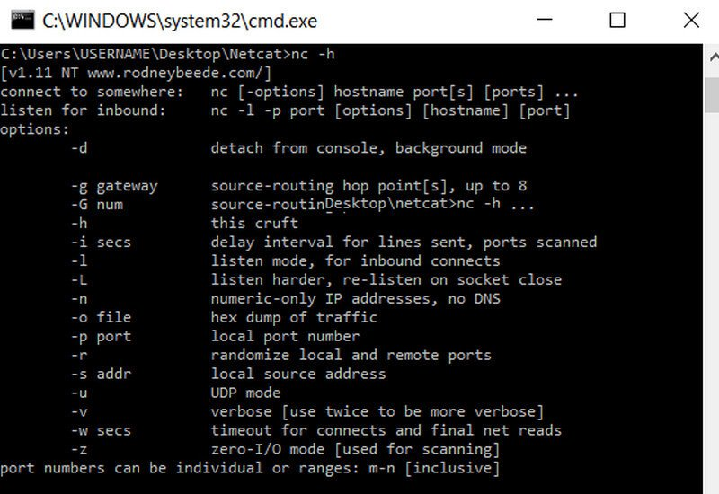 netcat for windows