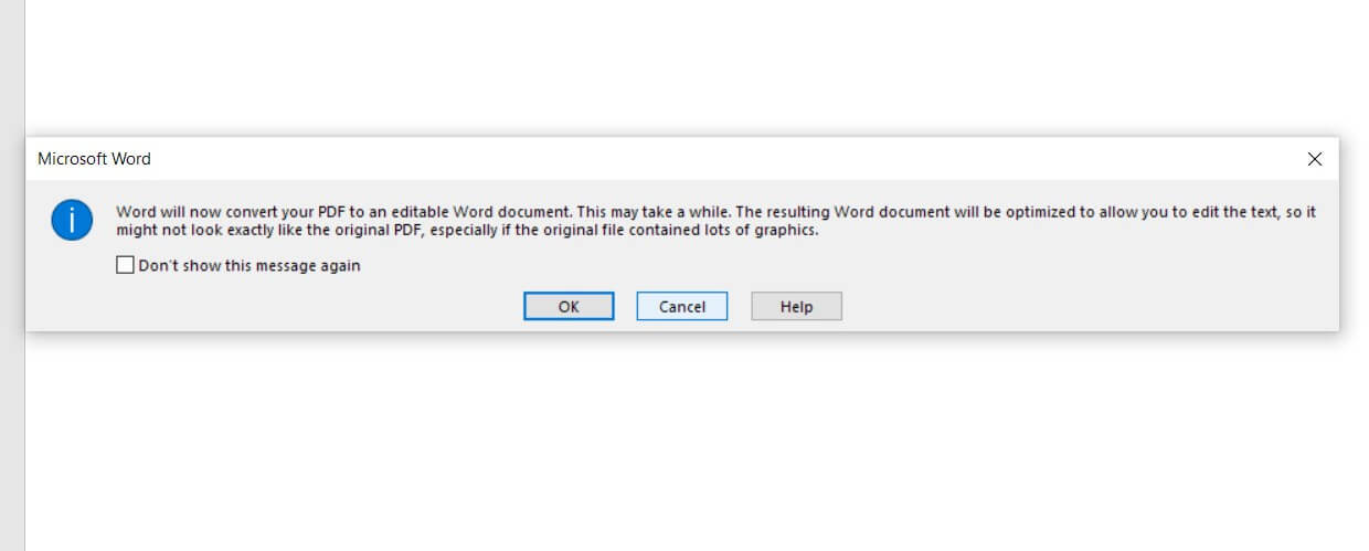 convert pdf into text in word