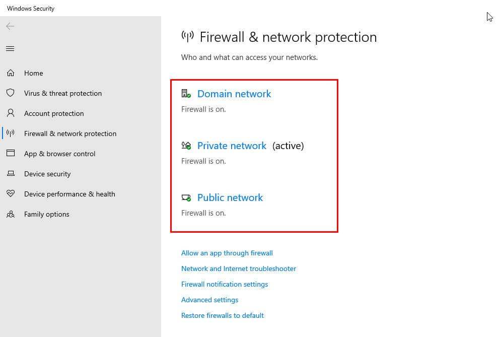 disable windows firewall