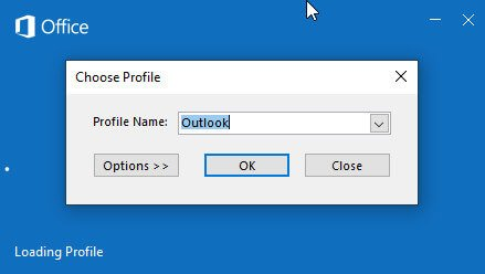microsoft outlook profile