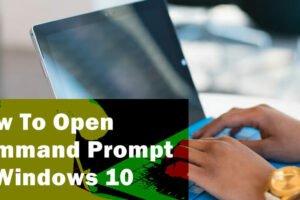 windows 10 command prompt