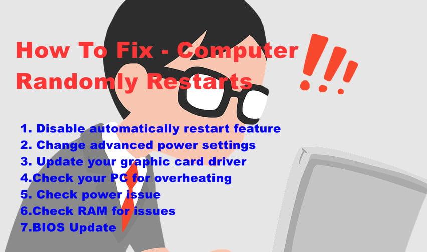 computer restarts randomly