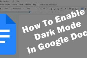 google docs dark mode