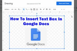 add text box in google docs