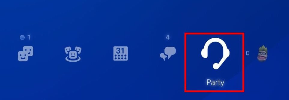 create party on ps5