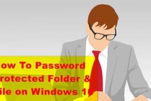 password protect windows 10