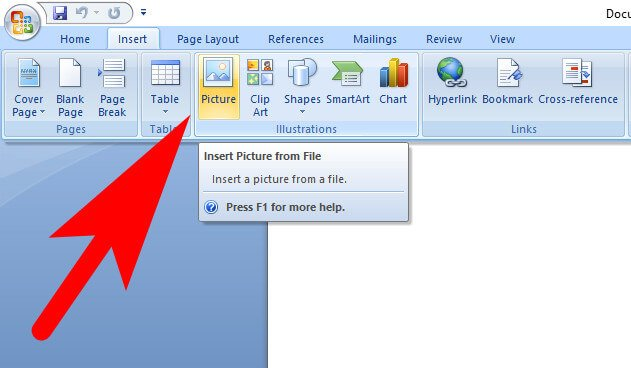 how to insert image in word