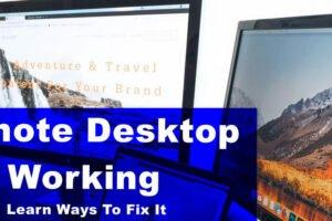 remote desktop not working