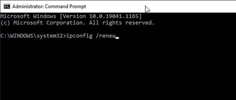 renew ip address