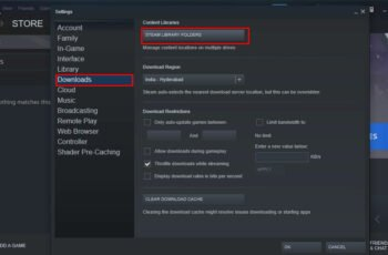how to open steam library folders