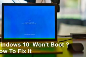 computer won't boot windows 10
