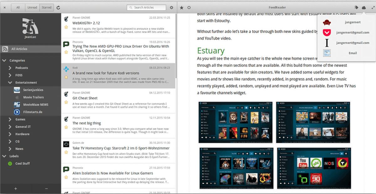 feed reader linux