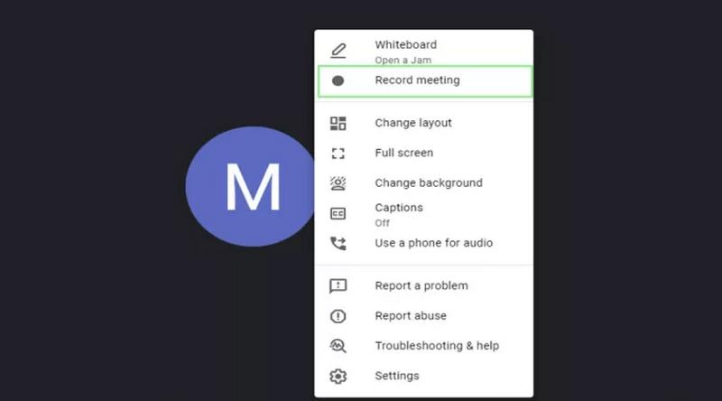 google meet record