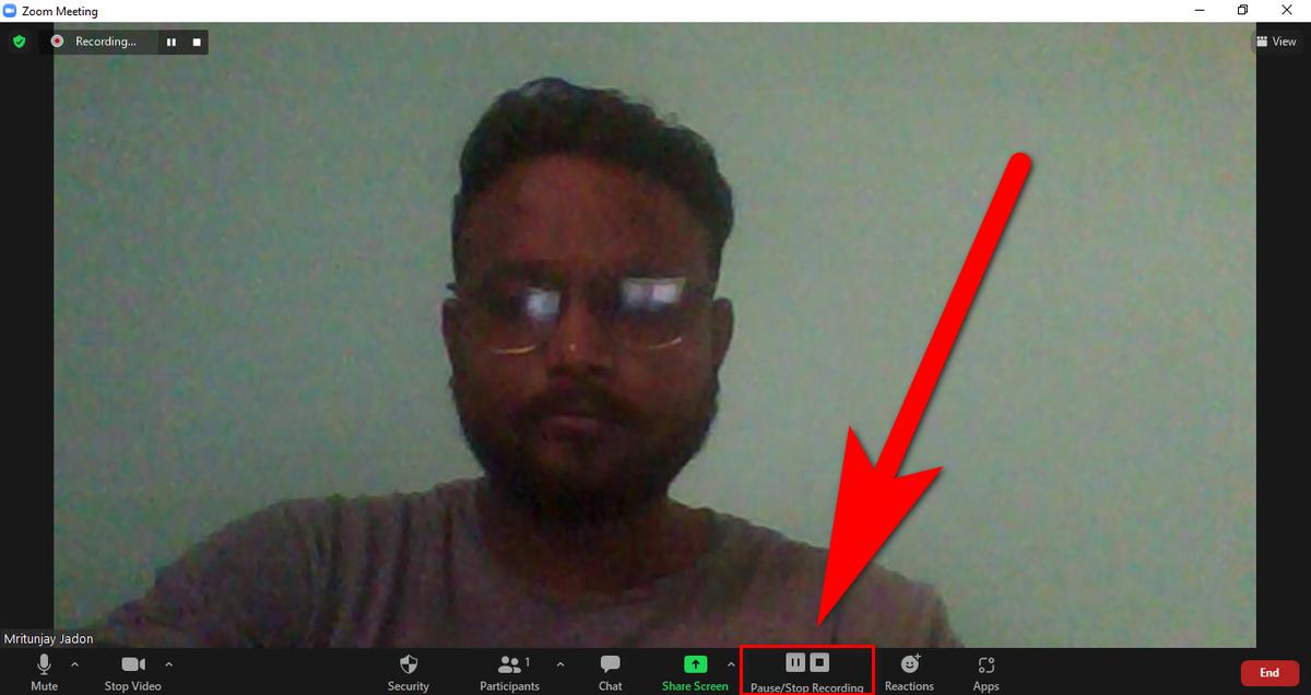 zoom recording