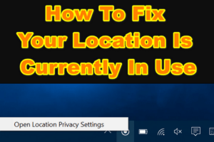 Your Location Is Currently In Use